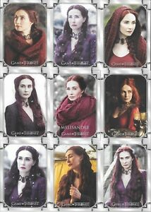 Game of Thrones Iron Anniversary 9 Card MELISANDRE Base Set Puzzle 55-63