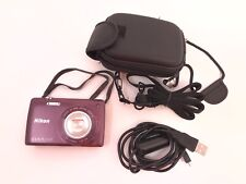 Nikon Coolpix S4300 Touch Screen Lens-Shift VR Wide 6Xzoom 16.0MP w/camera case