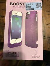 New Boostcase Detachable Power Case for iPhone 5 2200mAh Purple #Aplr0353
