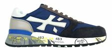 Scarpe da uomo Premiata sneaker in camoscio tela e pelle MICK 4567 blu avio