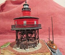 Harbour Lightsseven Foot Knoll With Pin, Mass #521 1999 Coa With Original Box