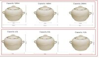HOT POT Large Food Warmer Set of Insulated Casseroles, CREAM -Ambiente