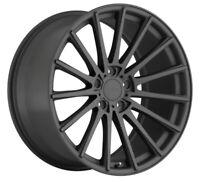 19x8.5 TSW Chicane 5x120 Rims +40 Matte Gunmetal Wheels (Set of 4)