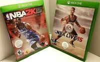 Video Game Lot of 2 - NBA Live 15 and NBA 2K15 Microsoft Xbox One