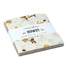 """Howdy Moda Charm Pack 42 100% Cotton 5"""" Precut Quilt Squares by Stacy Iset Hsu"""