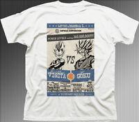 DBZ DRAGONBALL Z VEGETA vs GOKU anime manga white cotton printed t-shirt 9930