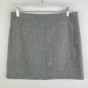 J.Crew Light Gray Wool Nylon Pencil Mini Skirt w/ Pockets Size 2