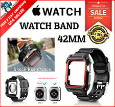 Apple Watch Series2 iWatch Nike Black Fitness Sport Band Rugged Protective 42mm