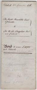 Politics Aristocracy Signed Document 1856 2nd Earl Granville Liberal Politician