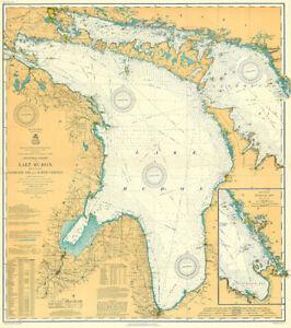 Lake Huron, Georgian Bay and North Channel - 1910 - Nautical Chart Map Poster
