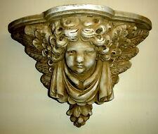 "16"" Classical Greek Cherub Angel Bracket Shelf Eros Cupid Home Decor 22104"