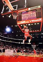 Michael Jordan Rookie Slam dunk Champion Basketball Signed Autograph A4 Poster