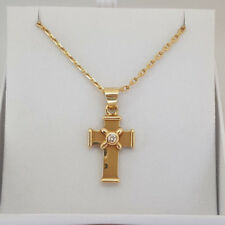 Fabulous 18ct Gold Diamond Cross and Chain Necklace.  Goldmine Jewellers.