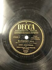 Louis Armstrong Decca 78 RPM Record 24752 Blueberry Hill Jazz VG R1