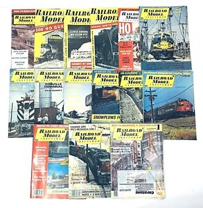 Railroad Model Craftsman Magazine Lot 1956 to 1988  15 various back issues gift