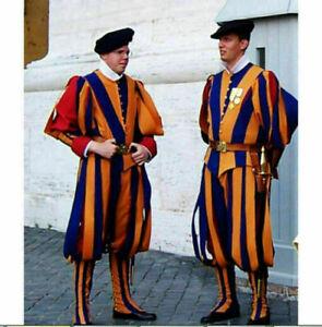 Switzerland Soldiers Cosplay Costume Papal Swiss Guard Uniform Carnival