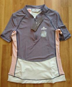 New Adidas Stella McCartney Cycling Shirt, kids/teenage sizes, grey/white/pink