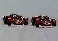 Set of (2) Vintage STP Racing Indy Car, Indy 500 Sticker Set - 1970's