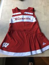 Girls Wisconsin Cheerleading Cheerleader Dress Outfit Size 4