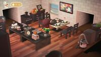 Animal : Crossing Large Modern black Kitchen