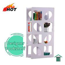 New White Hi High Gloss Bookcase & Bookshelf