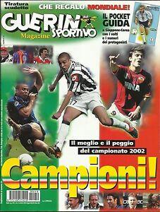 GUERIN SPORTIVO=N°19 2002=GUIDA MONDIALI ARGENTINA INGHILTERRA SVEZIA NIGERIA