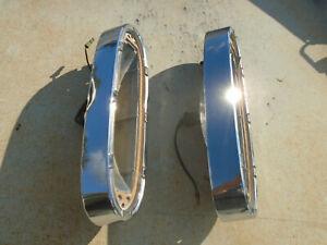 60 1960 Edsel Ranger Chrome Tail Light Housings Taillight Bezels