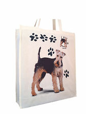 More details for welsh terrier cotton shopping bag tote with gusset for xtra space perfect gift