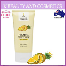 [Etude House] Fresh Squeeze Juice Cleansing Foam #Pineapple Brightening Cleanser