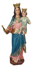 Mary, Help of Christians Our Lady Blessed Virgin 33 Inch Fancy Large Statue