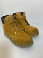 Brahma Mens Wheat Bravo Leather Work Boots Size 9.5 Lace Up