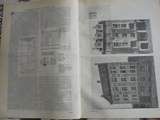 1901 ...Bauzeitung 36 / Berlin Firma Prüss / München Franz Josef Schellingstraße