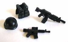 BrickArms M249 SUPPORT GUNNER PACK for Custom Minifigure -Gun, SAW Vest, Helmet