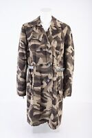 INC International Concepts Womens Camouflage Long Trench Coat Jacket XL Green