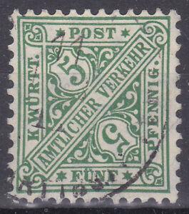 Altdeutschland / Württemberg Mi. Nr. 229 1906 5 Pf. Dienstmarke USED