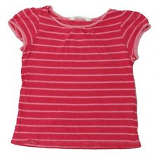 H&M Girls Size 4-6Y Pink Striped T-Shirt Top