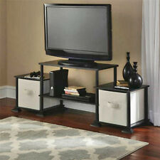 TV Stand Entertainment Center Black Storage Cabinet Media Console Wood Furniture
