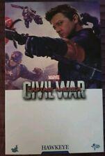 HOT TOYS 1/6 MMS358 Hawkeye CIVIL WAR USED LIKE NEW IN BROWN BOX