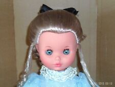 vintage 17 1/2 in. vinyl plastic jointed marked Furga- Italy girl doll