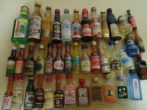 40 Mini Schnapsflaschen, Miniatur Spirituosen, Sammlungsauflösung