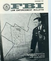 November 1971 FBI Law Enforcement Bulletin - Nice Condition