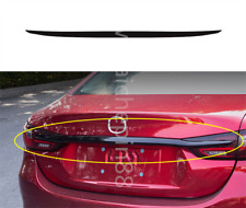 Black Rear Door Trunk Lid Tail Gate Cover Sticker For Mazda 6 Atenza 2018 2019