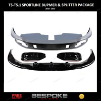 VW T5 T5.1 FRONT SPLITTER  BUMPER + BARN DOOR SPORTLINE SPOILER FOR TRANSPORTER