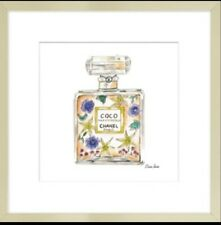 Perfume bottles Channel by Claire Louise 26x26cm framed picture