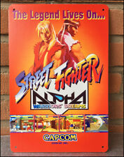 STREET FIGHTER ALPHA - Metal Wall Tin Sign Retro Arcade Game Poster