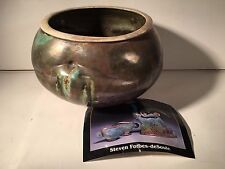 Steven Forbes-deSoule Raku Vessel Signed – North Carolina Studio Pottery
