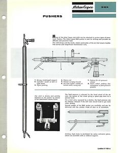 Equipment Brochure - Atlas Copco - BMK - Pusher - Mining - c1960's (E6659)