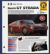 Bizzarrini Gt Strada IMP Brochure Specs 1965-1969 Group 2, No 69