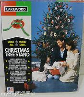 """Vintage Steel Metal Lakewood Christmas 3 1/8"""" Dia Trunk Tree Stand Model 3321"""