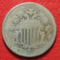 1868 Shield Nickel 5c , GOOD , US Coin!